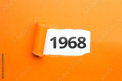 Fotografia  surprising Number / Year 1968 orange background