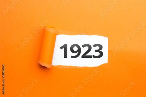 surprising Number / Year 1923 orange background Billede på lærred