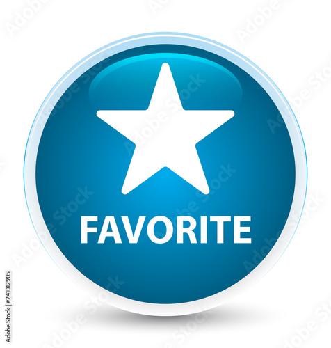 Fotografie, Obraz  Favorite (star icon) special prime blue round button