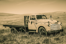 Alter Pick-up Truck Washington USA In Sepia