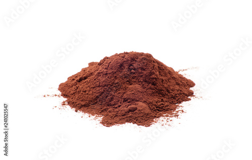 Fotomural Cacao powder isolated on a white background
