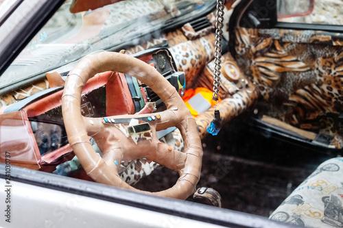 Carta da parati Unusual and weird car interior design