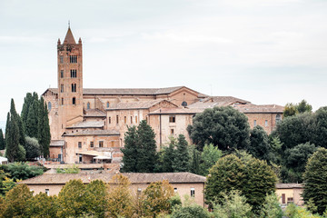 Fototapeta na wymiar Siena city is a medieval town in Italy, main travel landmark in Tuscany