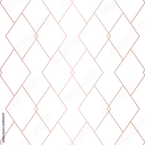 Stoffe zum Nähen Rose gold Muster. Vektor geometrischen Raster nahtlose Textur. Metallische Kupferleitungen