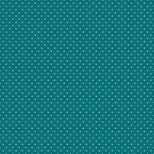 Polka Dots Seamless Pattern - Tiny White Polka Dots On Teal Background