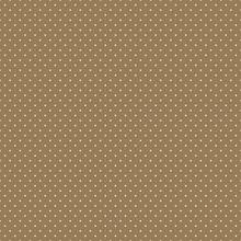 Polka Dots Seamless Pattern - Tiny White Polka Dots On Tan Background