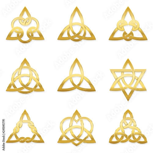 Celtic triangle knots Canvas-taulu