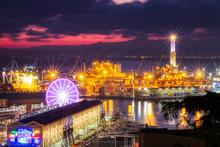 Scenic View Of Genova Harbor