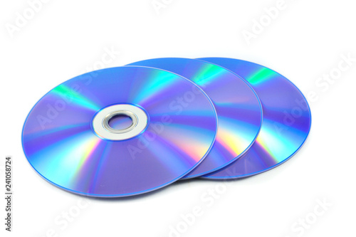 Cuadros en Lienzo  dvd disc / dvd or blue ray disc isolated on white background