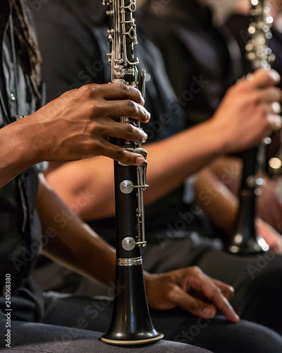 Clarinet player woodwind section - 241068380