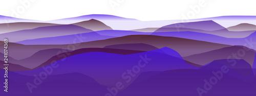 Deurstickers Violet Farbige Berge, Wellen, abstrakte Oberfläche, moderner Hintergrund, Vektorgrafik Illustration für dein Projekt