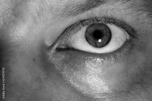 Fototapeta Black and white human eye. obraz