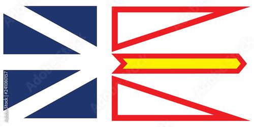 Fotografia Newfoundland and Labrador vector flag