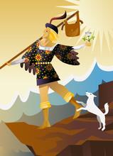 The Fool Major Arcana Tarot Card