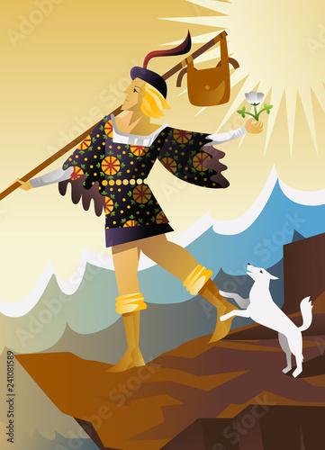 the fool major arcana tarot card Canvas Print