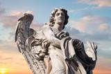 Statues on the bridge of St. Angel.