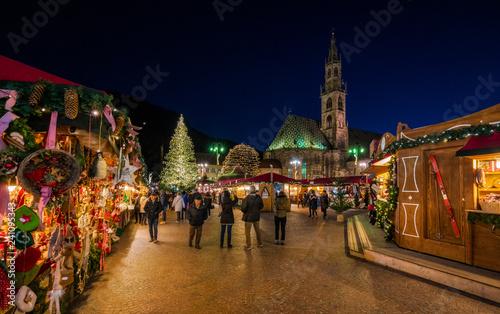 Fotografie, Obraz  Bolzano Christmas market in the evening