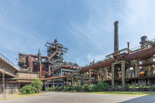 Aluminium Prints Industrial building Disused blast furnace plant in Duisburg