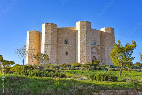 Italy, Castel del Monte, UNESCO heritage site, 13th century fortress Wallpaper Mural