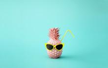 Fruit Summer Background In Minimal Concept Style,3d Illustration,3d Rendering