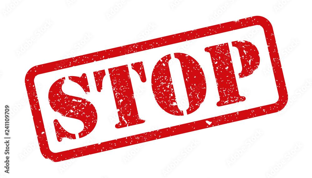 Fototapety, obrazy: Stamp stop sign - vector