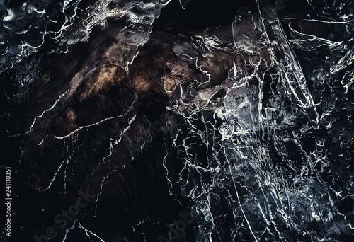 Küchenrückwand aus Glas mit Foto Marmor ice3