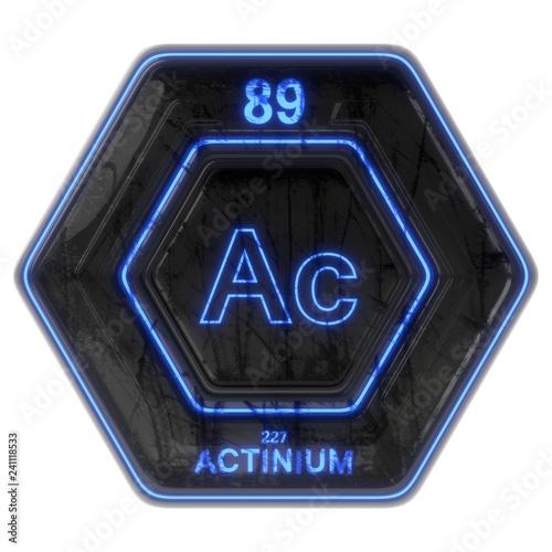 Photo Sci Fi Button Actinium