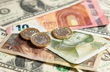 International Currency, Euro, Dollar, Pound, Yuan Mixture