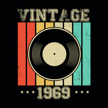 Vintage 1969 Vinyl Retro Poste...