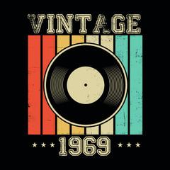 vintage 1969 vinyl retro po...