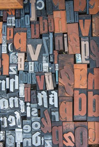 Valokuva  Alphabet print letters character
