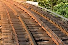 Macro Railway In Coonoor, India Sunlight