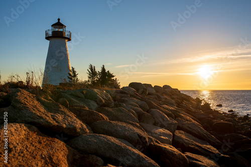 Fotografie, Obraz  Ned Point Light in Mattapoisett, Mass. at sunrise