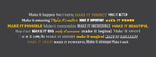 Make It Concept Wall Graphics. Inspirational Writing In Conceptual Typography Design.