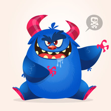 Angry Cartoon Monster. Hallowe...