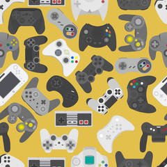 Basic RGBVideo game controller background Gadgets seamless pattern