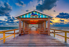 Fishing Pier In Fort Lauderdale, Florida, USA