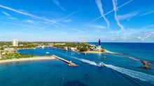 Hillsboro Inlet Lighthouse In  Hillsboro Beach, Florida, USA