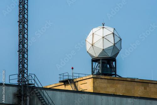 Radar antenna in Tempelhof Airport in Berlin Wallpaper Mural