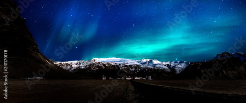 Canvas Prints Northern lights Eyjafjallajokull