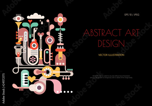 Printed kitchen splashbacks Abstract Art Abstract art design vector illustration