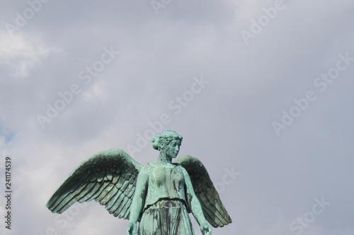 Fotografie, Obraz  Angel Statue in the Sky