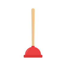 Plunger. Vector Illustration.