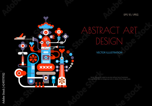 Abstract art design vector artwork