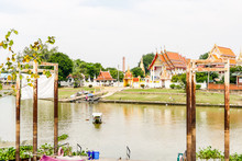 Beautiful Photo Of A River, Ayutthaya In Thailand