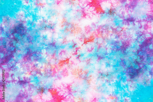 Stampa su Tela  colorful tie dye pattern abstract background