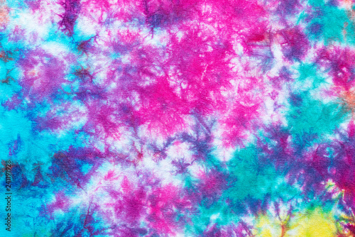 Fotografia  colorful tie dye pattern abstract background