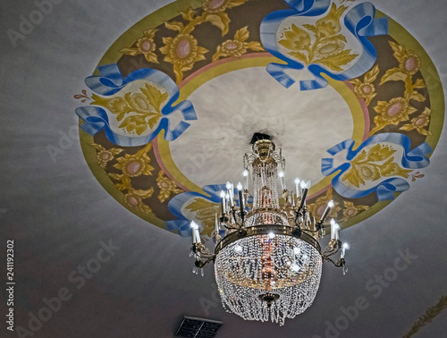 Keuken foto achterwand Theater chandelier in the concert hall