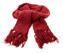 Red Winter Scarf Thick Wool Is...