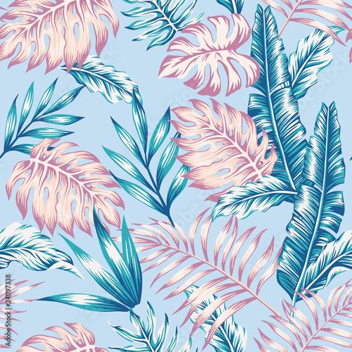 letni-wzor-dzungli-niebieskie-tlo